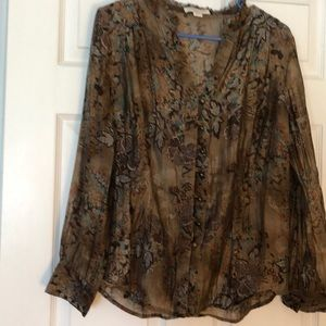 Cold water Creek long sleeved blouse.